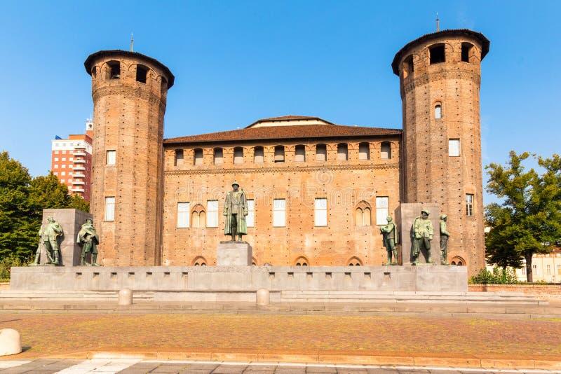 Fortifique o quadrado em Turin, Piedmont, Itália fotos de stock