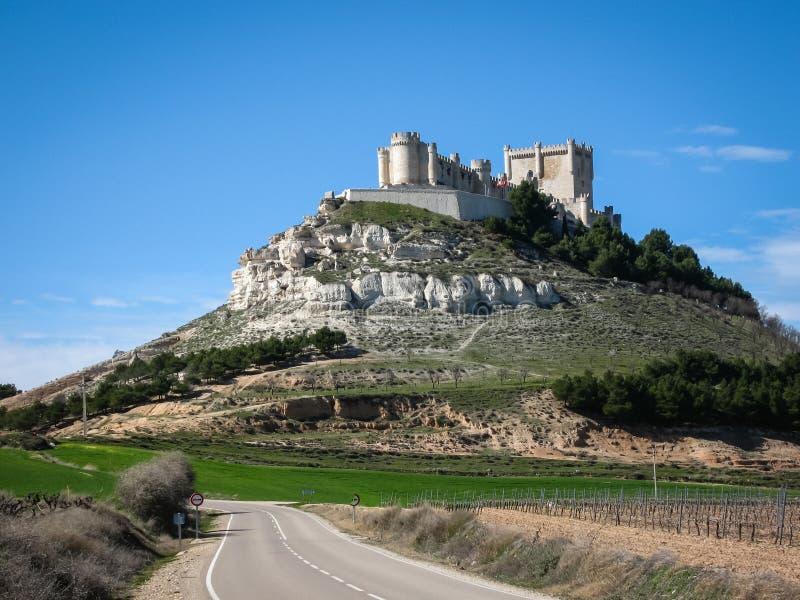 Fortifique Telez Giron, Valladolid, Castilla y Leon, Espanha fotografia de stock