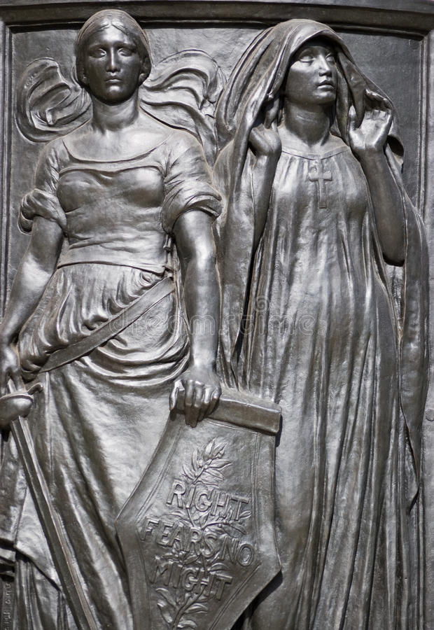 Download Fortitude And Faith Allegorical Figures Stock Image - Image: 24368593