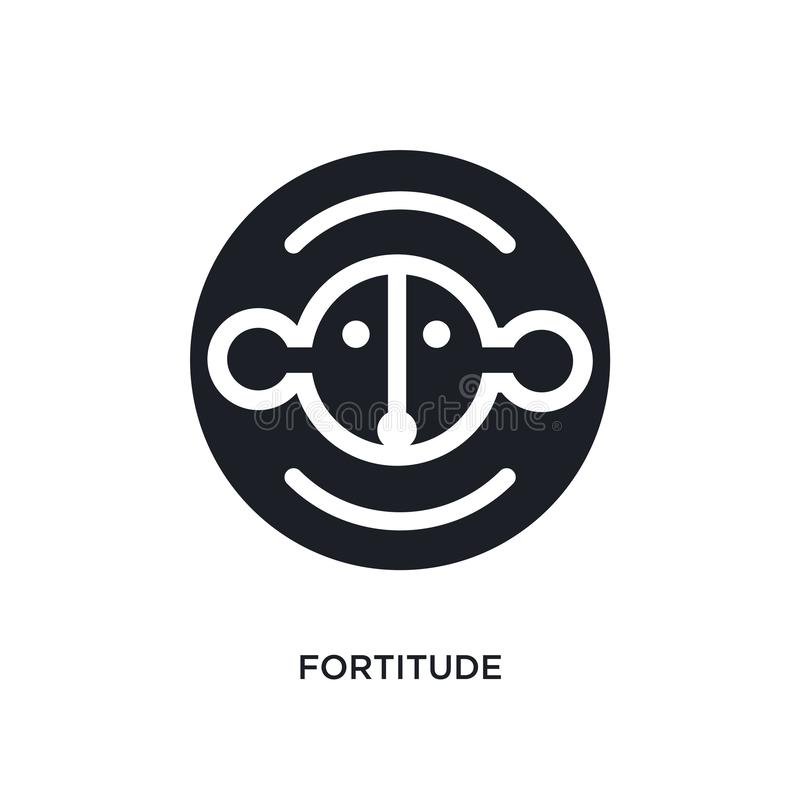 Fortitude isolated icon. simple element illustration from zodiac concept icons. fortitude editable logo sign symbol design on. White background. can be use for vector illustration