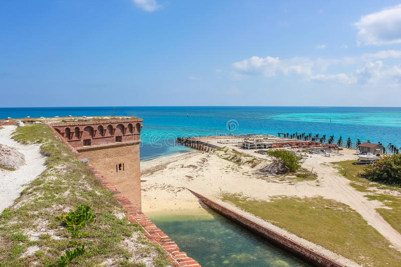 FortJefferson panorama arkivfoto