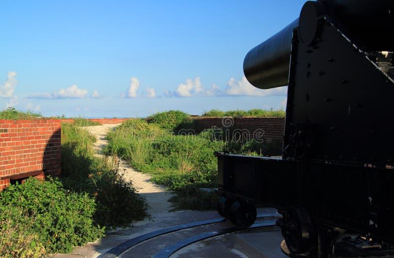 FortJefferson 15 tum Rodman Artillery Piece arkivfoto