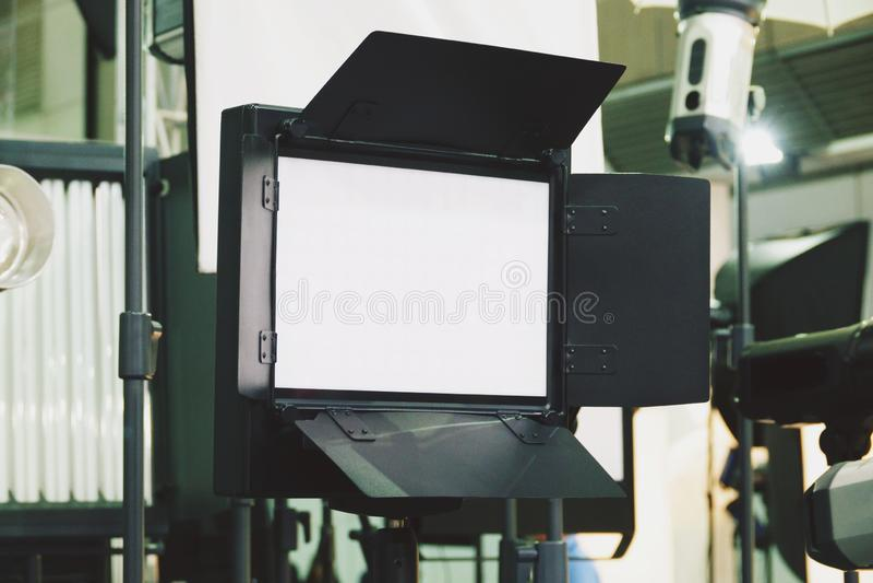 Fortlöpande belysning Video belysning LEDD video belysning arkivbild