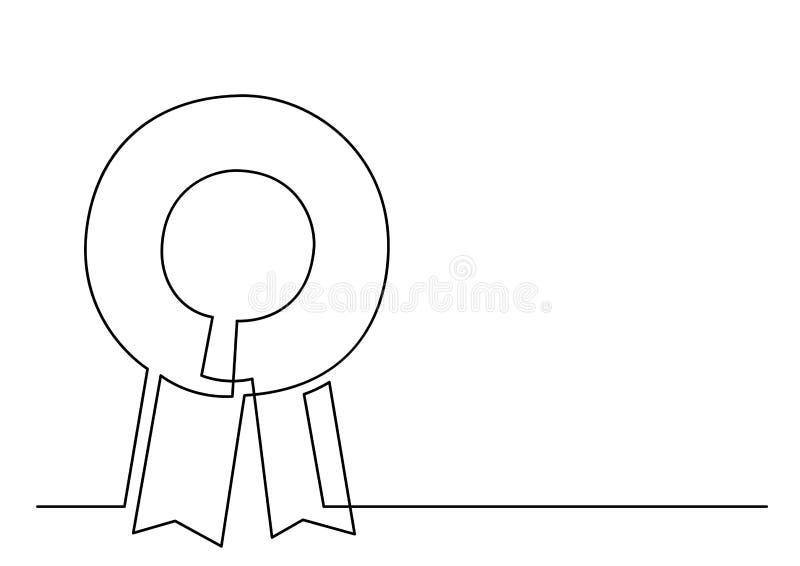 Fortlöpande linje teckning av bandrosetten vektor illustrationer