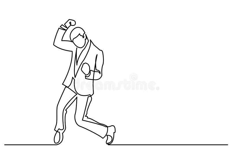 Fortlöpande linje teckning av manbifallet vektor illustrationer