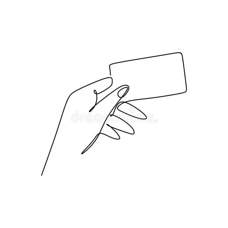 fortlöpande linje teckning, utan att rymma ett kort vektor illustrationer