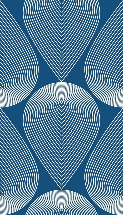 Fortlöpande modell med grafiska linjer, dekorativ abstrac vektor illustrationer