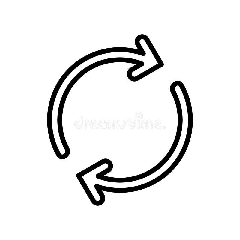 Fortlöpande symbolsvektor som isoleras på vit bakgrund, fortlöpande tecken-, linje- och översiktsbeståndsdelar i linjär stil royaltyfri illustrationer