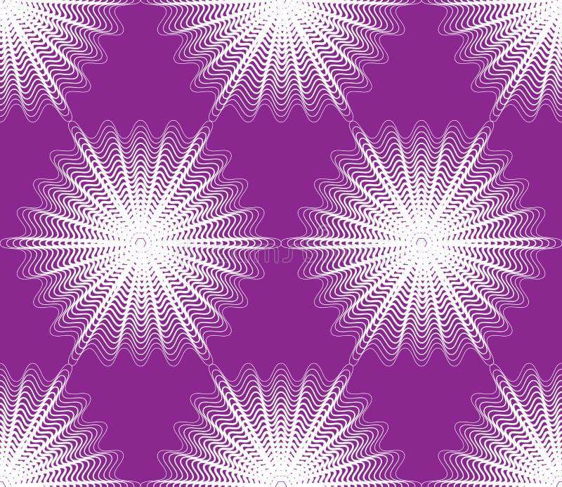 Fortlöpande vektormodell med grafiska linjer, dekorativ abstrac vektor illustrationer
