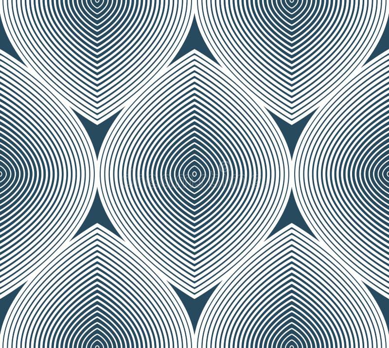 Fortlöpande vektormodell med grafiska linjer, dekorativ abstrac royaltyfri illustrationer