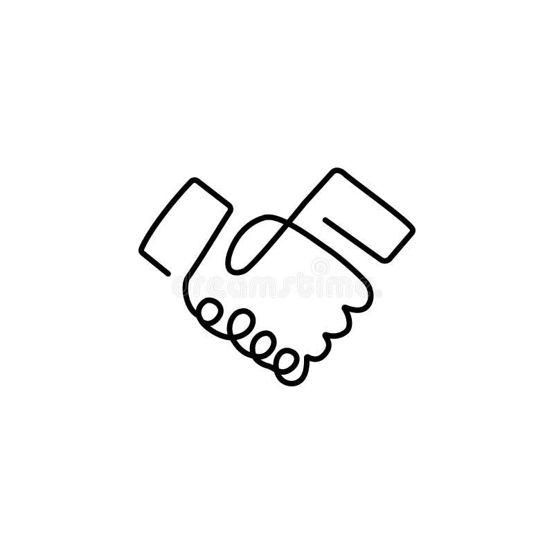 Fortl?pande linje teckning av handskakningen vektor illustrationer