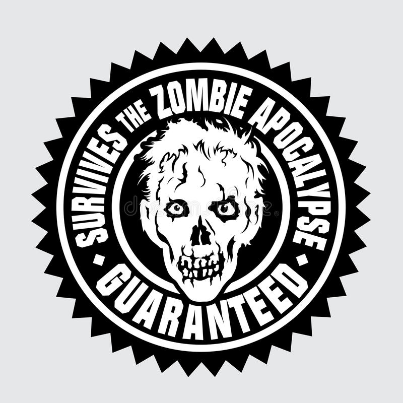 Fortlever Zombieapokalypset/garanterade royaltyfri illustrationer
