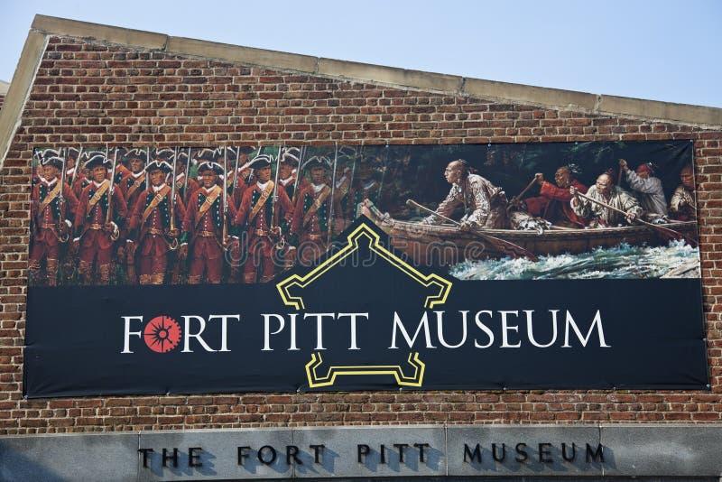 fortmuseumpitt pittsburgh arkivfoto