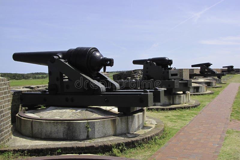 FortPulaski kanoner royaltyfria foton