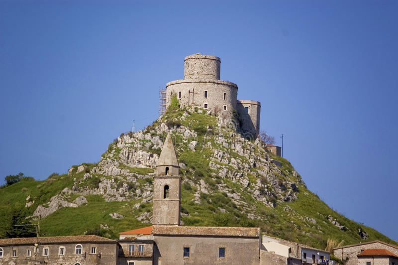 The fortress. The castle in Montesarchio, Campania, Italy stock image