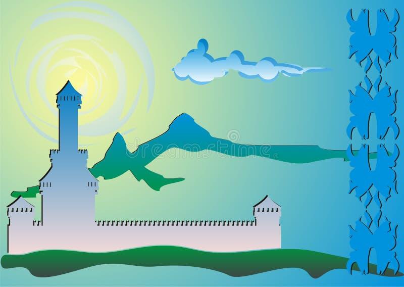 Download Fortress stock illustration. Illustration of palm, tourism - 6415083