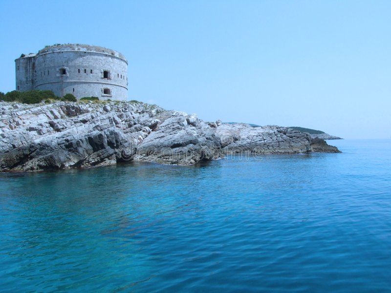 Fortress. On the Adriatic sea in Montenegro stock photography