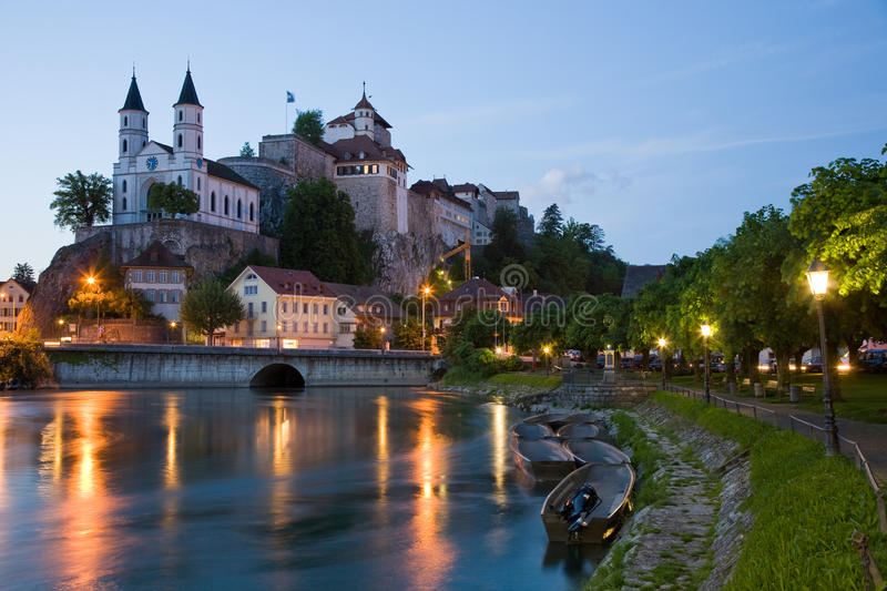 Fortress Aarburg royalty free stock photo