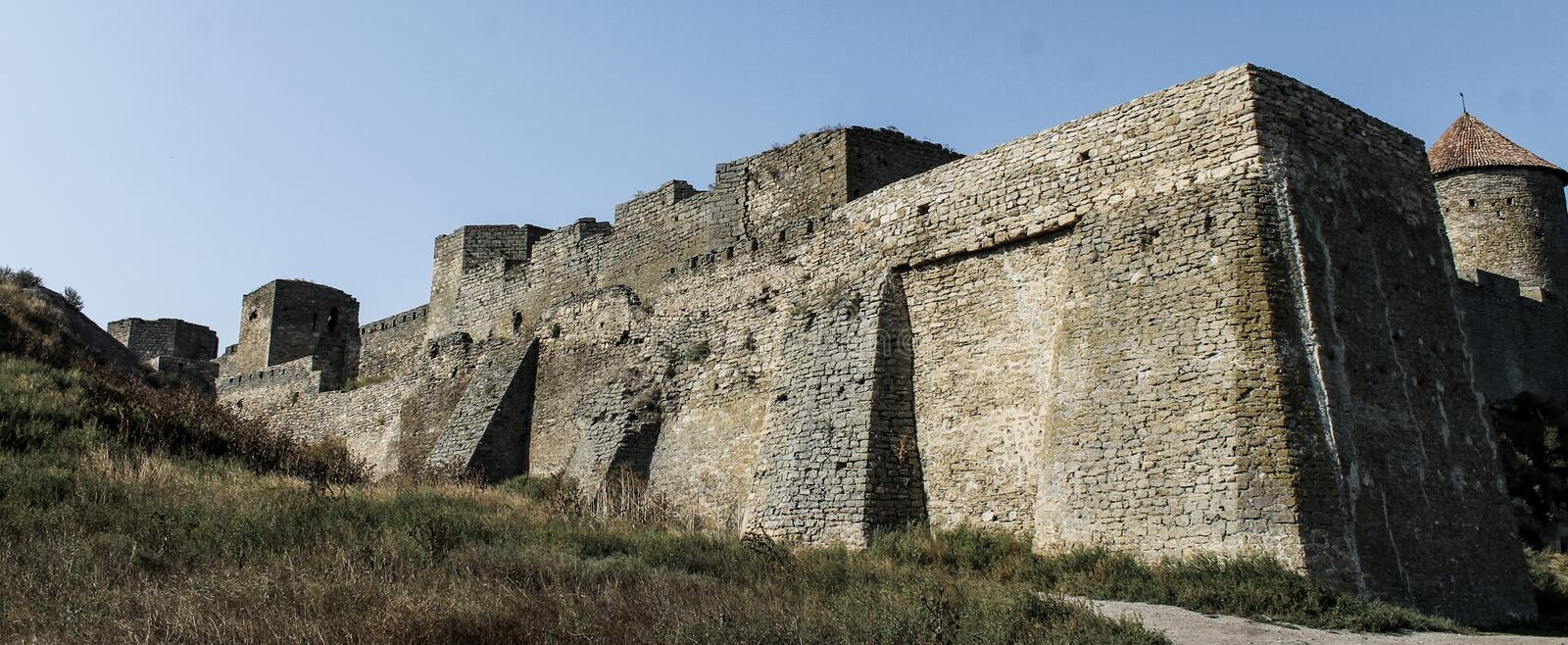 Fortress Ackerman. On the shore of the black sea, antique city of the thirty royalty free stock photography