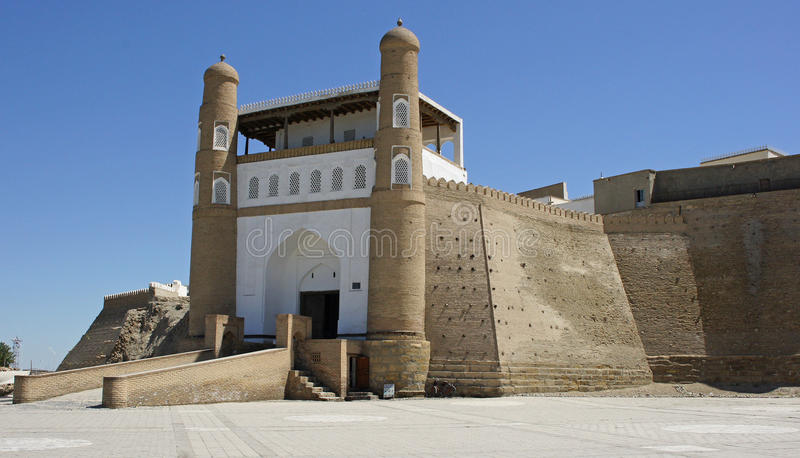 Fortress Ark, Silk Road, Bukhara, Uzbekistan, Asia. Ancient fort of Bukhara, silk road, Uzbekistan, Asia royalty free stock images