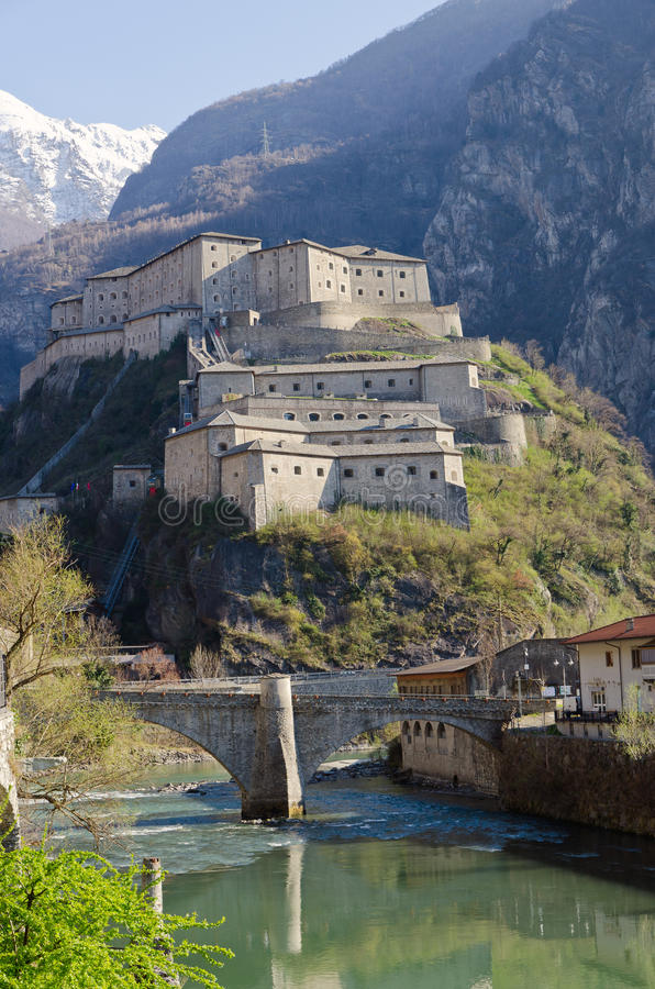 Fortress of Bard - Aosta Valley - Italy stock photography