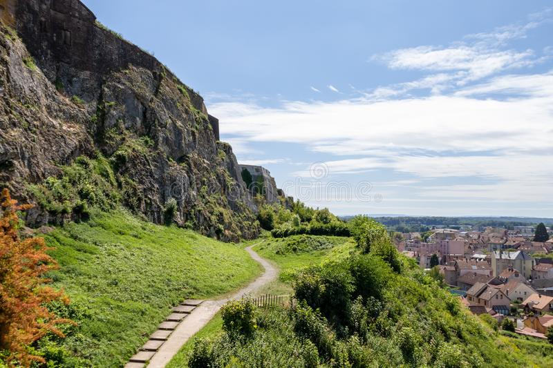 Fortress of Belfort France. An image of the fortress of Belfort France stock images