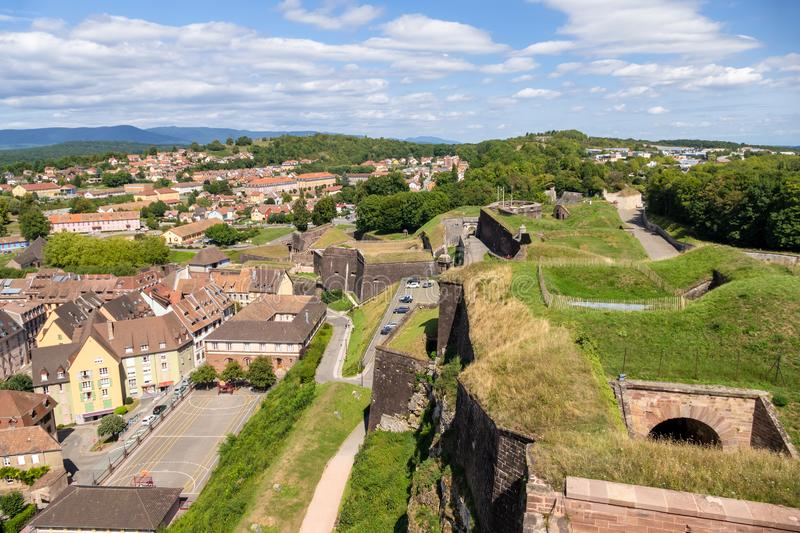 Fortress of Belfort France. An image of the fortress of Belfort France stock image