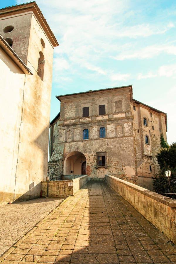 Fortress of Capodimonte on Bolsena lake. Farnese palace at Capodimonte, on Bolsena lake , Viterbo, Lazio, Italy royalty free stock photo