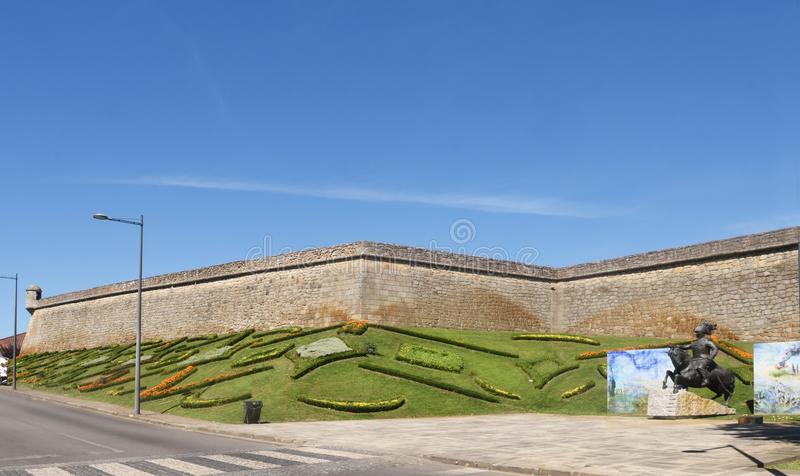 Fortress of Chaves, north of. Portugal royalty free stock photography
