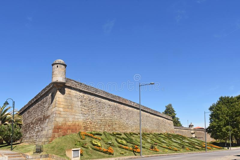 Fortress of Chaves. North of Portugal stock photo