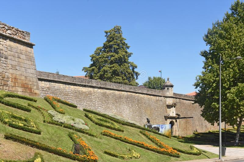 Fortress of Chaves, north of. Portugal royalty free stock image