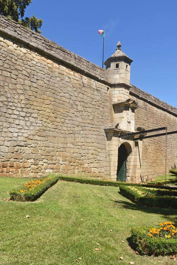 Fortress of Chaves, north of Portugal. Entrance of the fortress of Chaves, north of Portugal royalty free stock photos