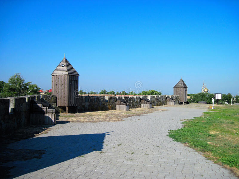 Fortress in the city of Azov royalty free stock images