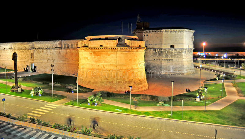 The fortress in Civitavecchia. Civitavecchia, Rome Italy The Forte Michelangelo is a fortress that protects the port of Civitavecchia. The fortress was begun in royalty free stock images