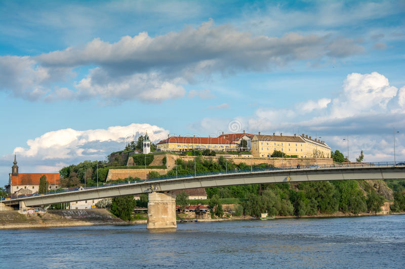 Fortress by the Danube river stock photo