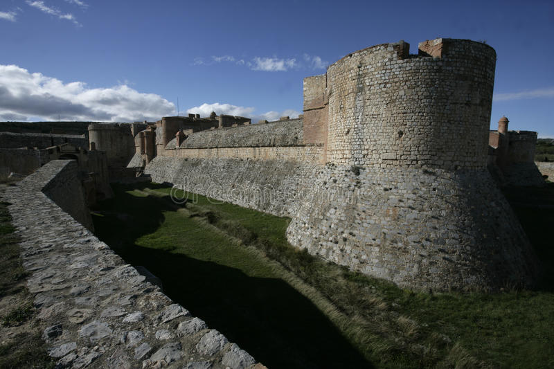 Fortress de Salses lizenzfreies stockfoto