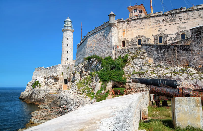 Fortress Of El Morro In Havana, Cuba Stock Photography
