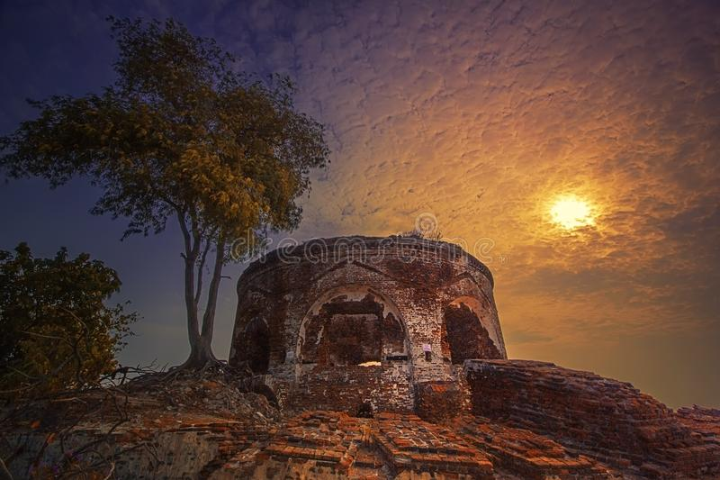 Fortress. History landscape view world war heritage royalty free stock photo