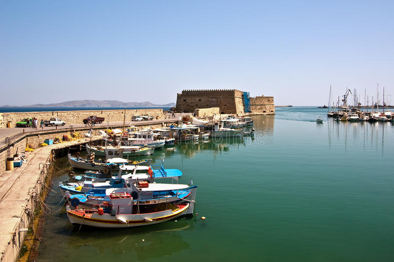 Download Fortress In Heraklion, Crete, Greece Stock Image - Image: 9601073