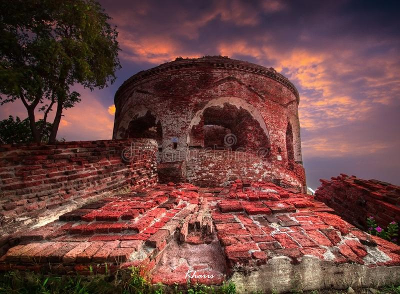 Fortress. History landscape view world war heritage stock photography
