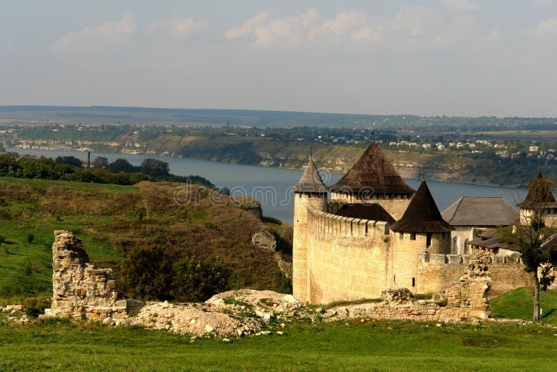 fortress hotyn ukraine western 免版税库存图片