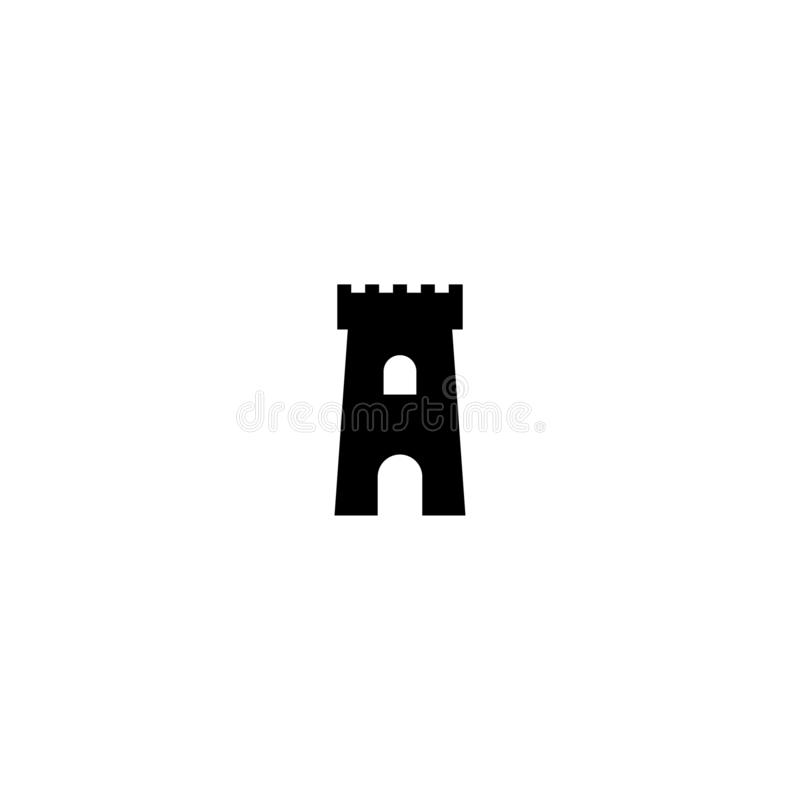 Fortress icon. Protection symbol. Tower, defense, castle, safety. Landmark. Fortress icon. Protection symbol. Tower, defense, castle, safety Landmark Vector royalty free illustration