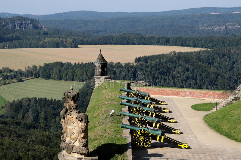 Download Fortress Königstein stock photo. Image of outdoor, weapon - 13320548