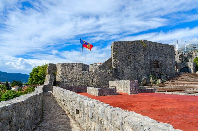 The fortress Kanli Kula (Bloody Tower), Herceg Novi, Montenegro. View of the fortress Kanli Kula (Bloody Tower), Herceg Novi, Montenegro royalty free stock photography