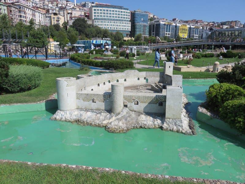 Kizkalesi in Miniaturk park, Istanbul stock photo