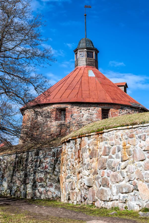 Fortress Korela in Priozersk. stock image