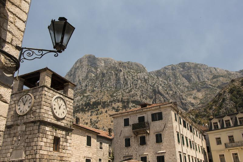 Fortress in Kotor royalty free stock photo
