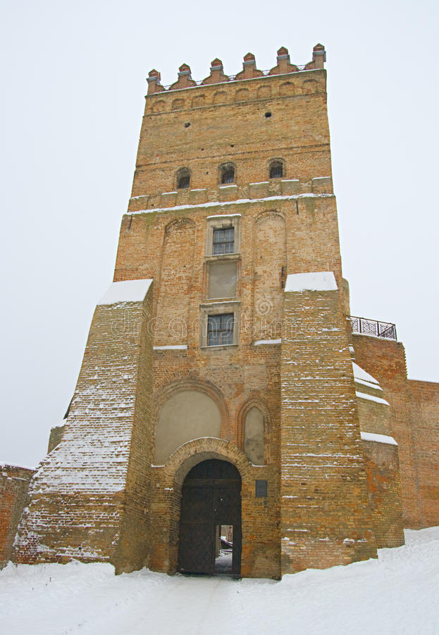 Fortress in Lutsk, Ukraine. Medieval fortress in Lutsk, Ukraine, in winter royalty free stock image