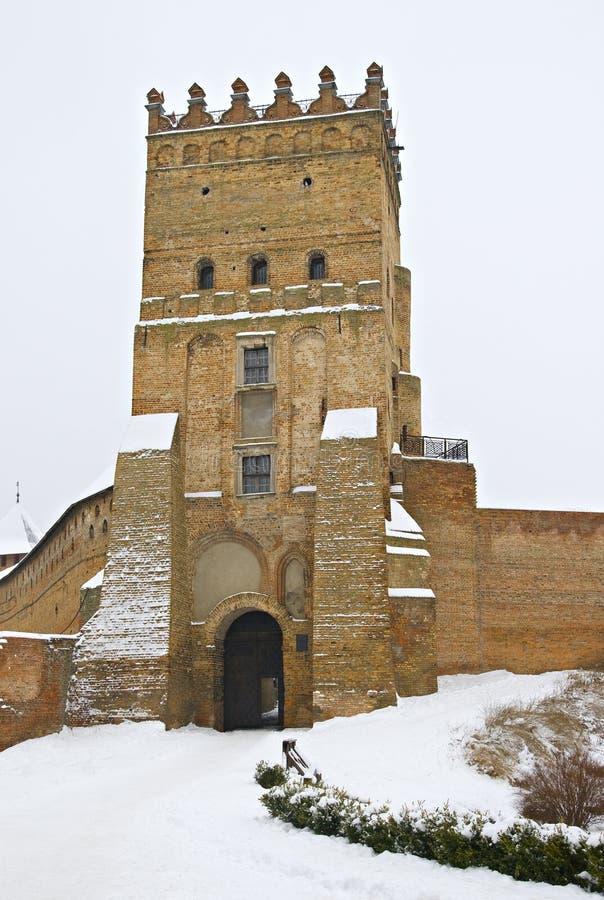 Fortress in Lutsk, Ukraine. Medieval fortress in Lutsk, Ukraine, in winter stock images