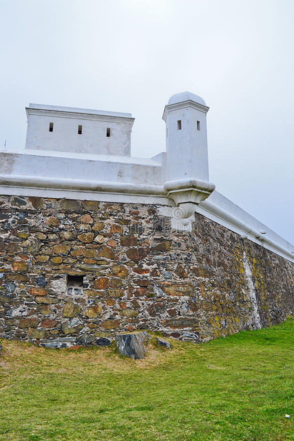 Fortress in the Montevideo Hill. White Fortress in the Montevideo hill in Uruguay stock image